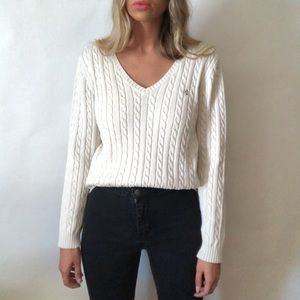 •Ralph Lauren• sable knit cream sweater